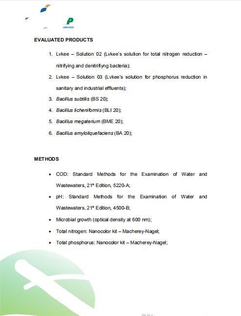 巴西环保客户实验室测试报告2